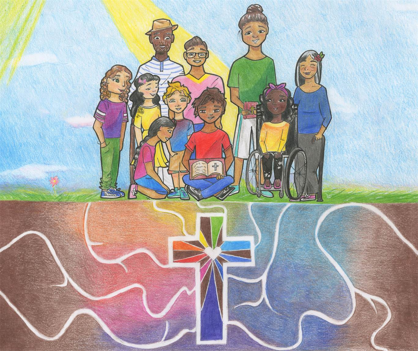 "Banner Image for Catholic Education Week  ""Living as Joyful Disciples"""